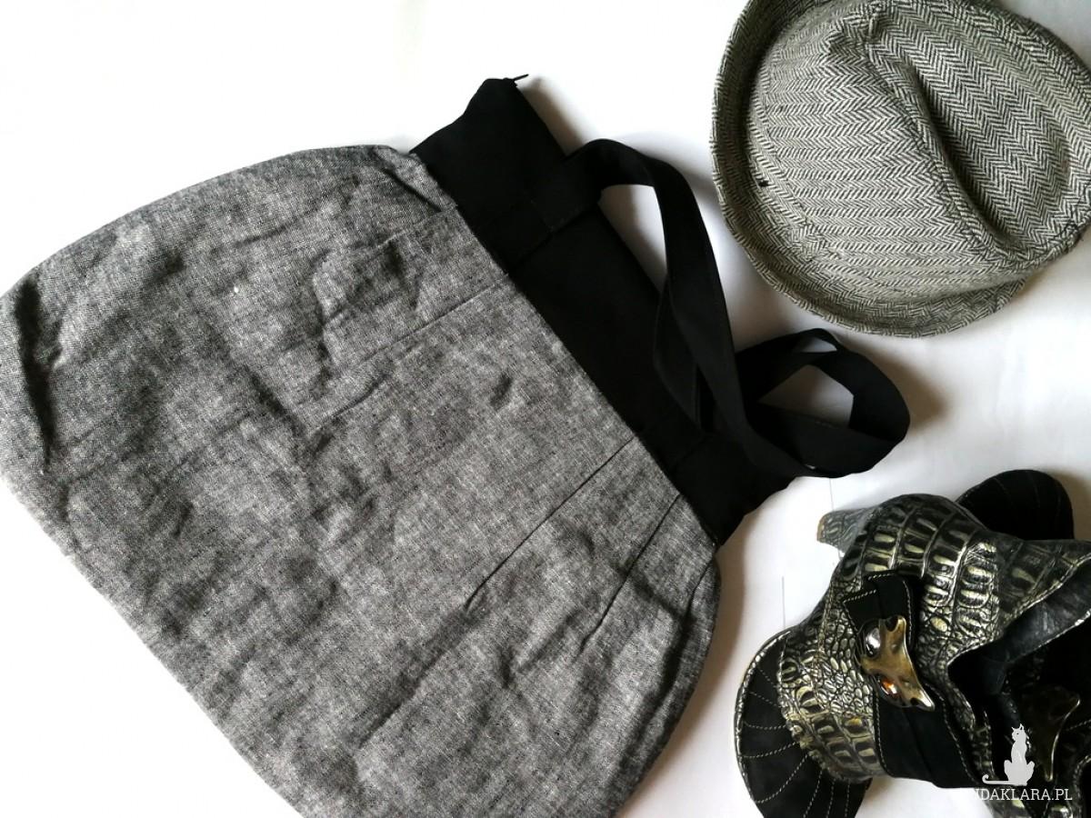 torba damska szaro czarna