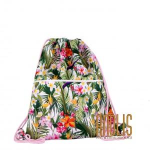 Worek Plecak Kwiaty Tropikalne