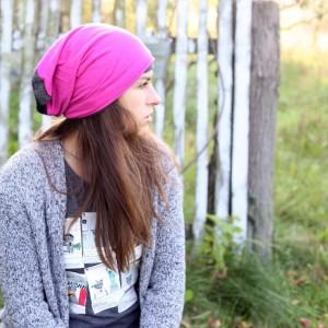 czapka dzianinowa damska