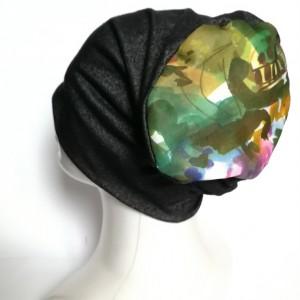czapka damska grafit melanż uniwersalna codzienna