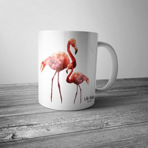 Kubek z flamingami