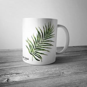 Kubek z liśmi palmy