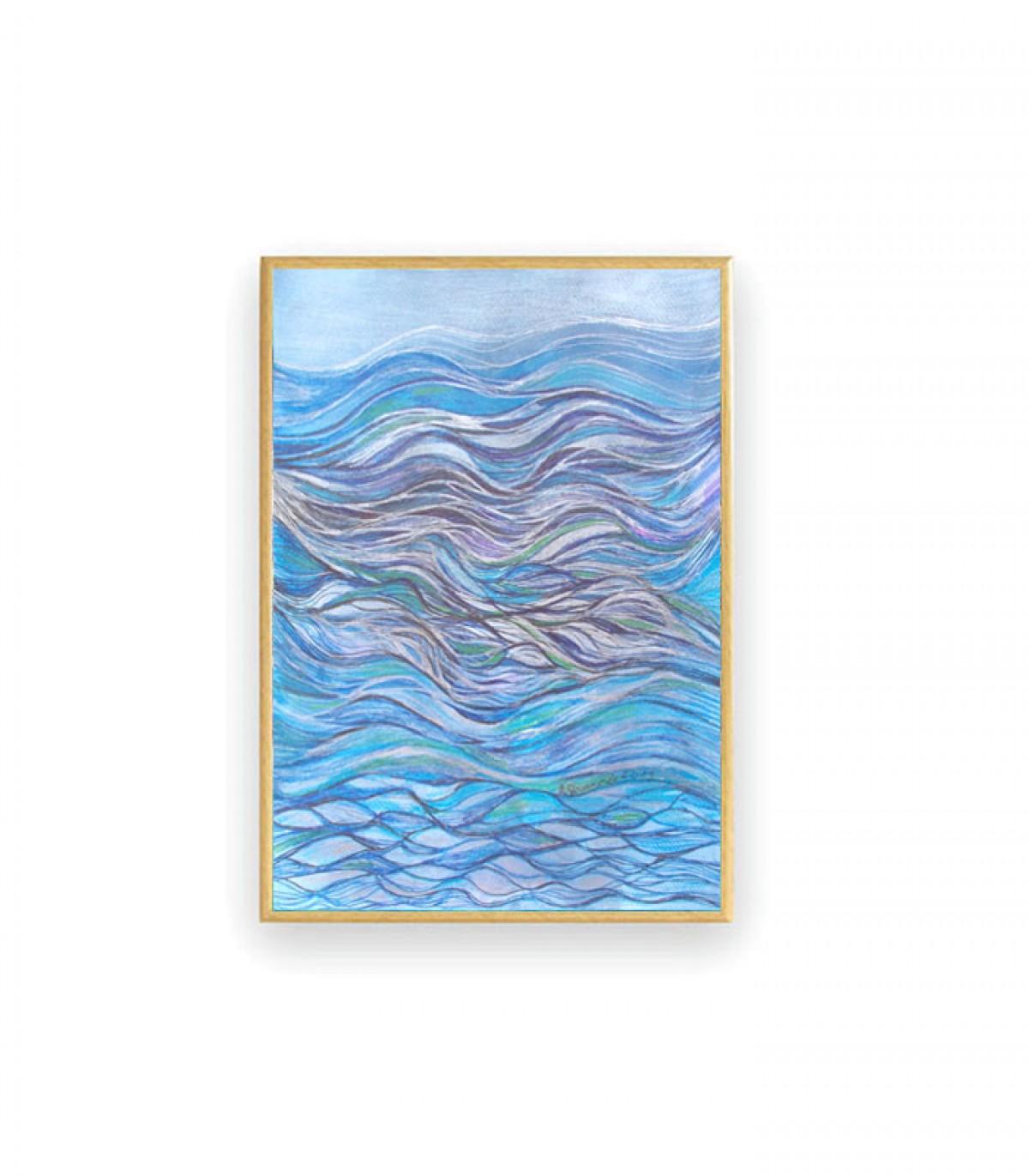 nowoczesny rysunek, oprawiona grafika, ręcznie malowany obraz