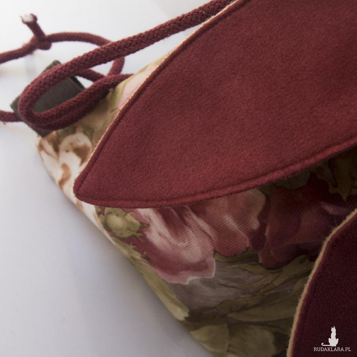 Mini plecaczek kwiecisty króliczek