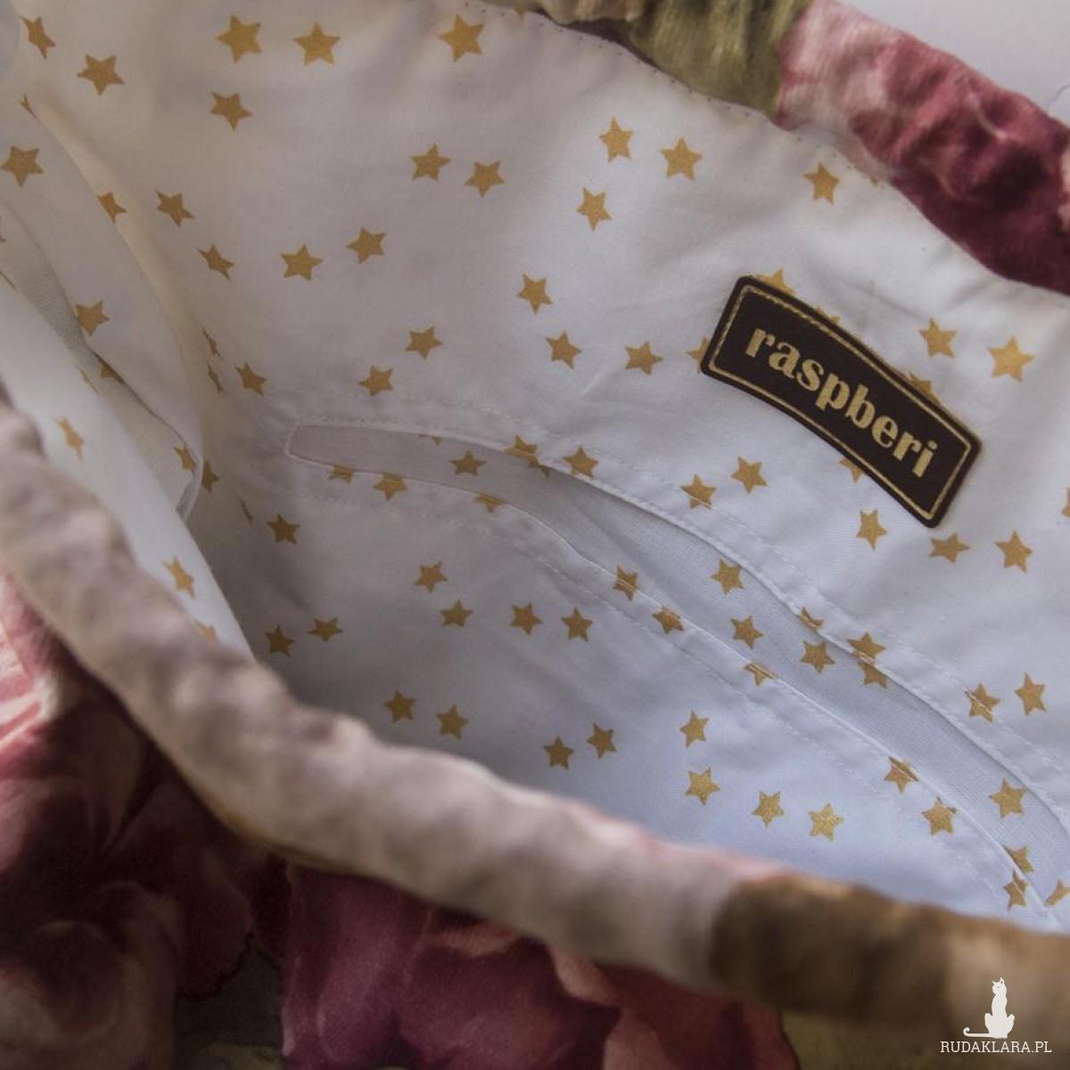 Torba worek na ramię w kwiaty