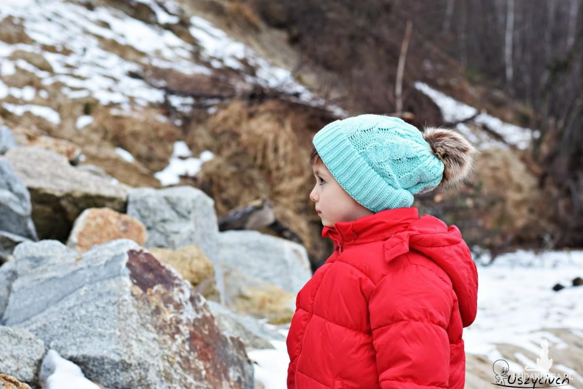 Czapka zimowa z pomponem, czapka na zimę, ciepła czapka miętowa