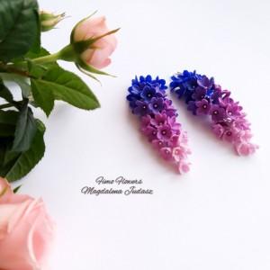 Cieniowane kolczyki z kwiatami
