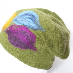 czapka wełniana damska zielona