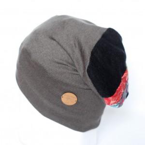 czapka dzianinowa patchworkowa