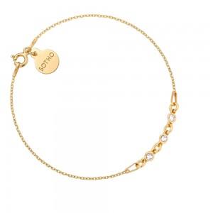 Złota bransoletka z kryształkami SWAROVSKI® CRYSTAL