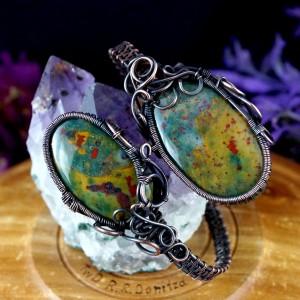 Kamień krwisty, Krwawnik, Heliotrop, Miedziana bransoletka z kamieniem krwistym, ręcznie wykonana, prezent dla niej, prezent dla mamy