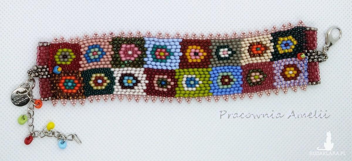 patchworkowa bransoletka boho beading