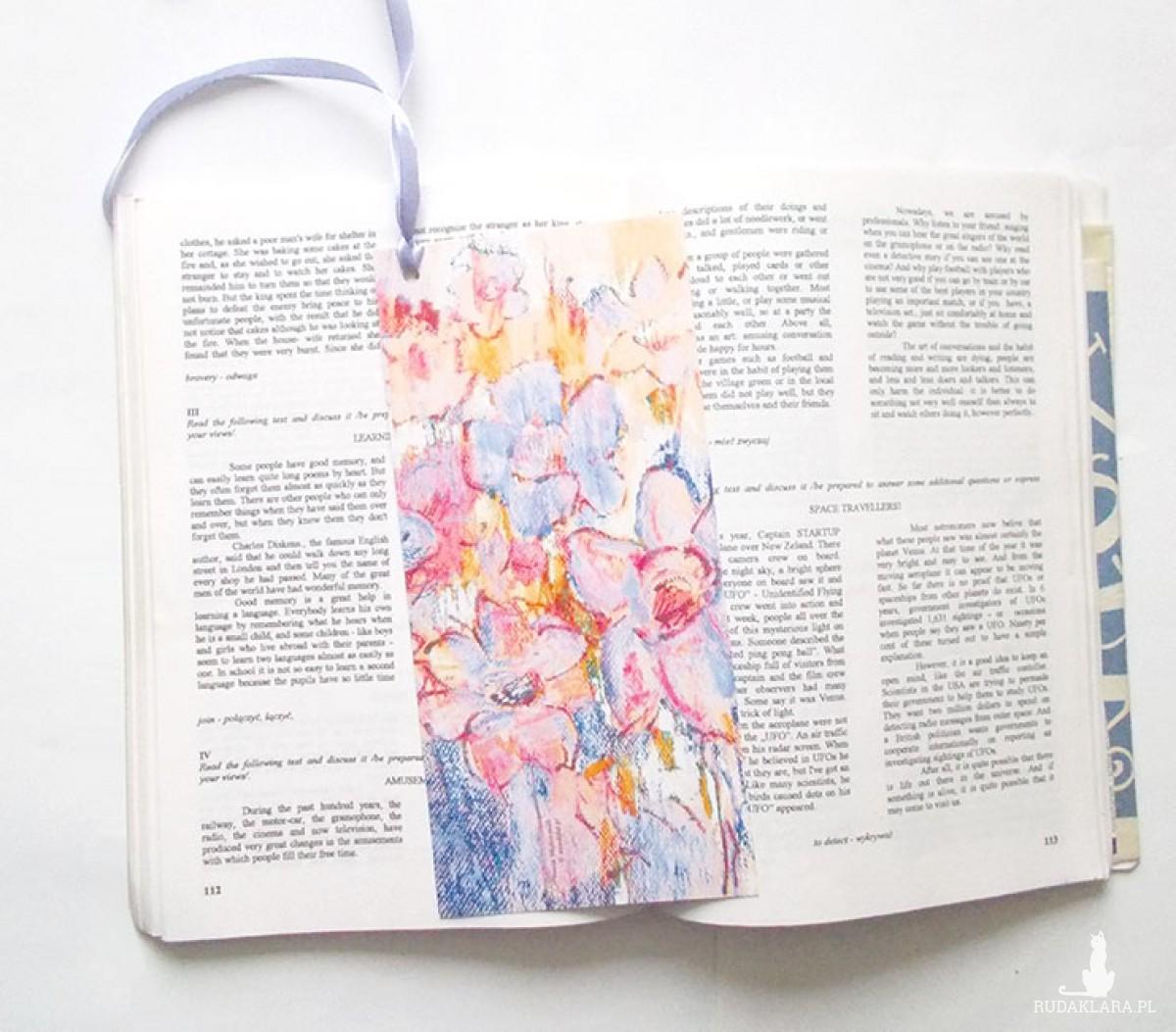 kolorowe zakładki, ładne zakładki, fajne zakładki do książki, zestaw 5 zakładek, prezenty dla gości, prezenciki, upominki
