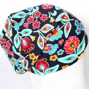 czapka dzianinowa damska folkowa