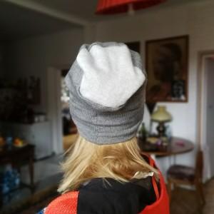 czapka szara dzianina swetrowa ciepła