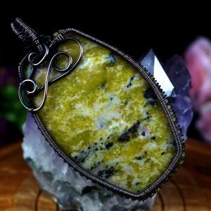 Jaspis, Miedziany wisiorek z jaspisem, ręcznie wykonany, prezent dla niej, prezent dla mamy, prezent urodzinowy, biżuteria autorska