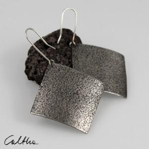Piasek - srebrne kolczyki 191119-03