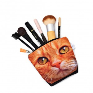 Kosmetyczka wodoodporna z kotem, kotek, rudy kot mała