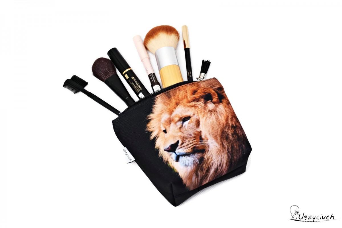 Kosmetyczka wodoodporna, saszetka do torebki lew mała