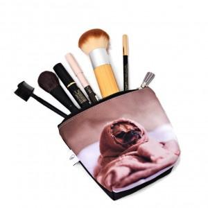 Kosmetyczka wodoodporna, saszetka do torebki mops mała