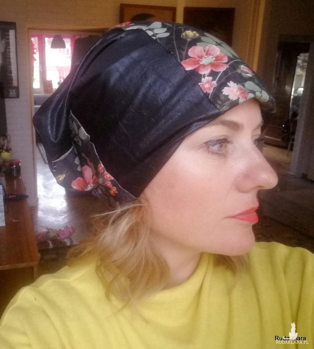 czapka damska szyta patchworkowo styl boho