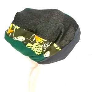 czapka etno boho patchworkowa ciepła uniwersalna handmade