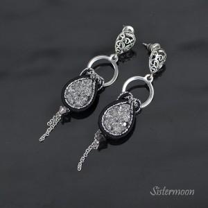 Małe srebrne kolczyki sutasz Elegance