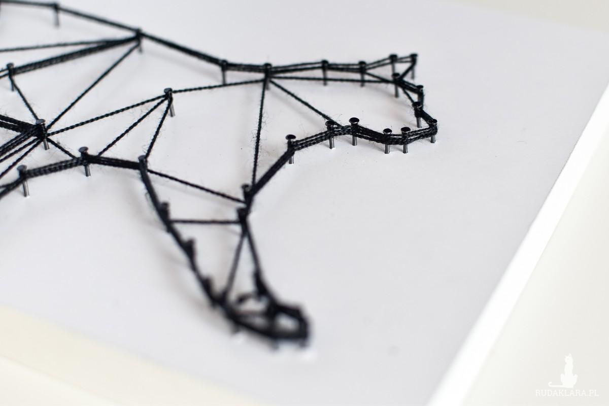 """""""Geometric design"""" Kot geometryczny, biało czarny"""
