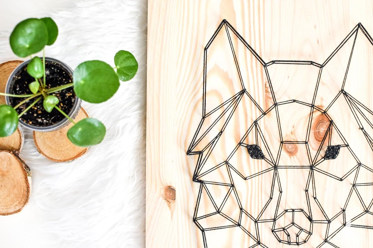 """""""Geometric design"""" Wilk geometryczny skandynawski, Naturalne drewno"""