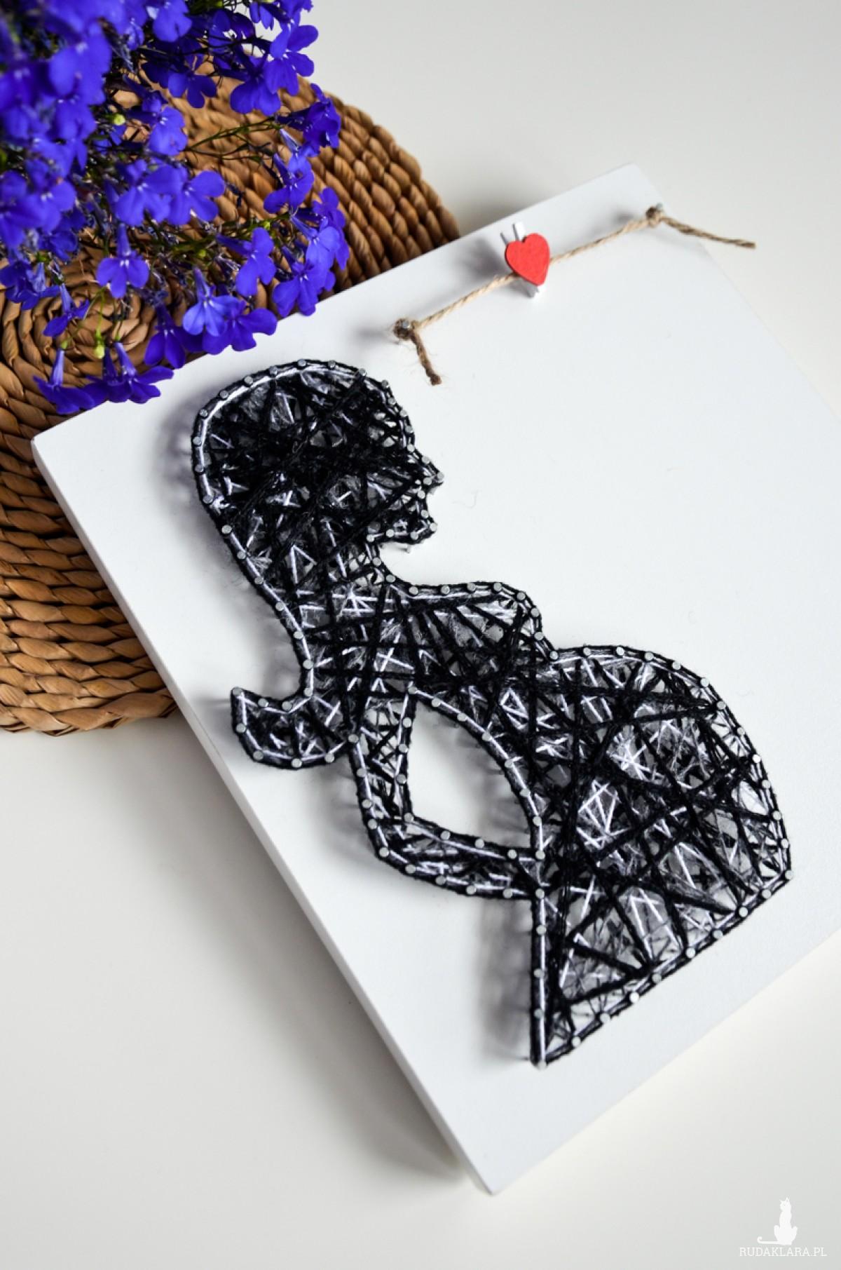 Obrazek Kobieta w ciąży + miejsce na zdjęcie, Baby shower, Zdjęcie USG