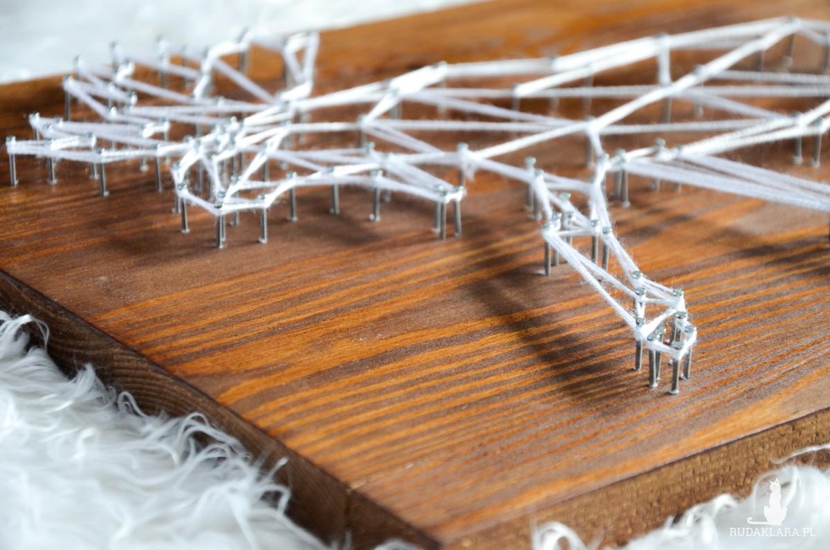 Skandynawski łoś, jeleń, renifer geometryczny, Ciemne drewno, Naturalne drewno, Sosna