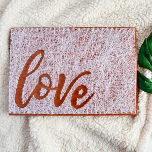 Obraz z napisem Love, Miłość, Zaręczyny, Ślub, Rocznica