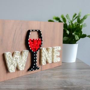 Wino, Wine, Obrazek dla przyjaciółki, Parapetówka