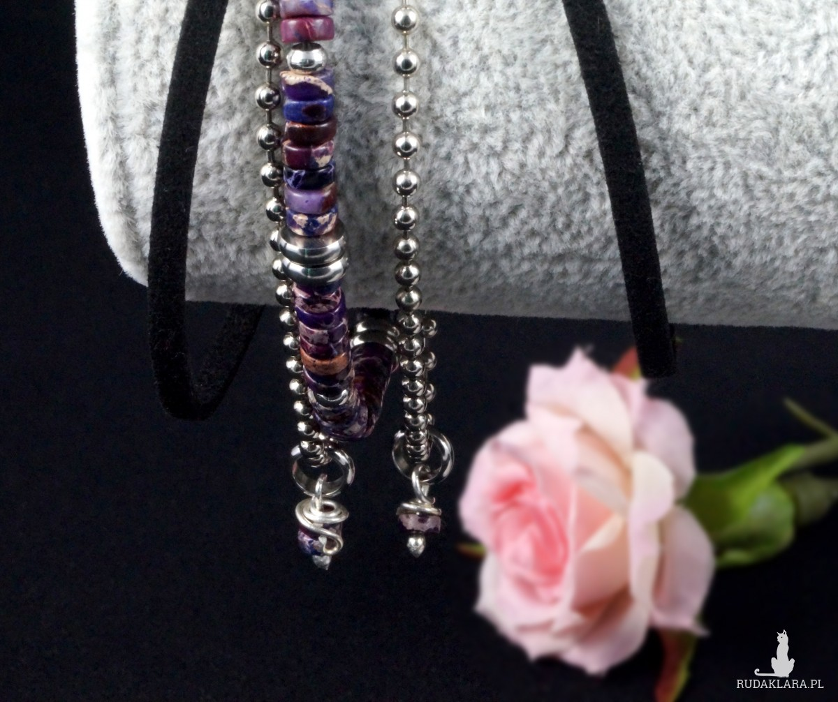 Jaspis, Srebrna bransoletka z jaspisowymi kuleczkami, ręcznie wykonana, prezent dla niej, prezent dla mamy, prezent urodzinowy, biżuteria