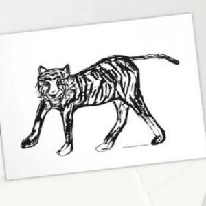 nowoczesne kartki, kartki z tygrysem, kartki męskie, ładne zaproszenia, zestaw 10 kartek, podziękowania dla gości