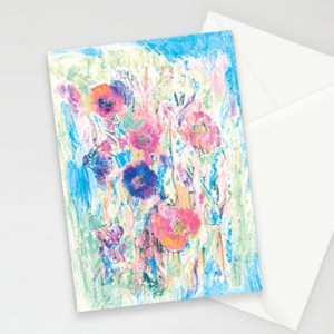 kartki z kwiatkami, ładne kartki, oryginalne kartki, zaproszenia, komplet 8 kartek, podziękowania dla gości