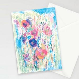 kartki z kwiatkami, ładne kartki, oryginalne kartki, zaproszenia, komplet 10 kartek, podziękowania dla gości