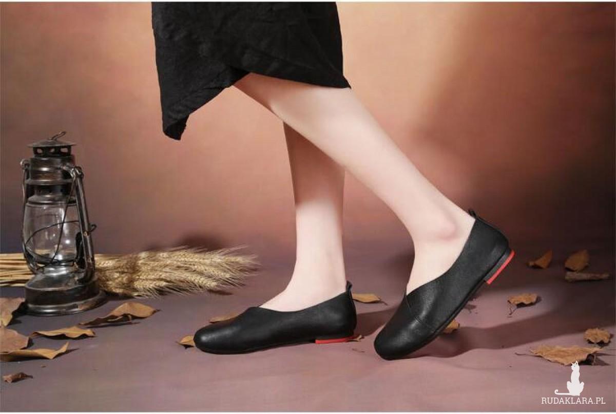 """buty """"cichobiegi"""" czarne ze sztucznej skóry mega wygodne roz. 37"""
