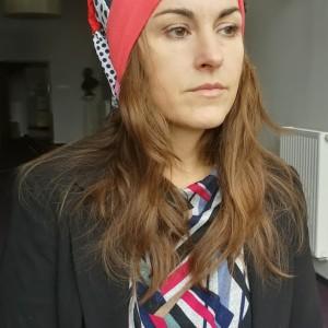 czapka duża turbanowa etno boho wiosenna patchwork