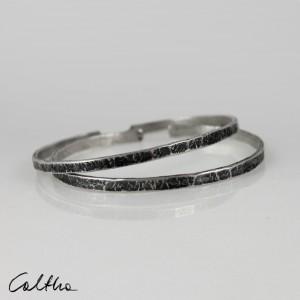 Nieregularne - komplet 2 srebrnych bransoletek 190811-08