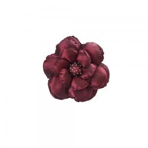 Poduszka ozdobna kwiatek bordowa