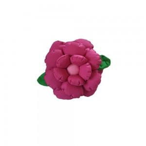 Poduszka ozdobna kwiatek ciemny róż