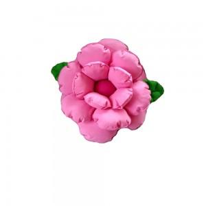 Poduszka ozdobna kwiatek jasny róż