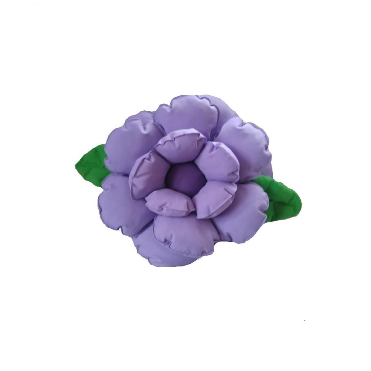 Poduszka ozdobna kwiatek jasny fiolet