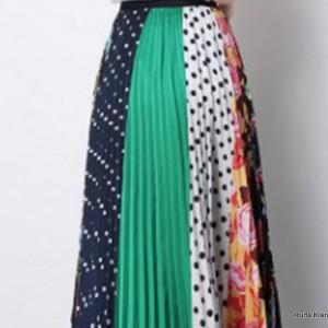 plisowana spódnica rozmiar M/L motyw wzory folkowe