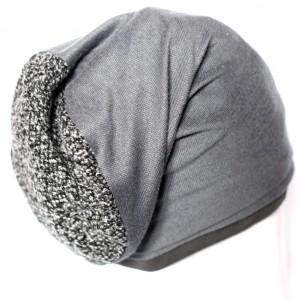 czapka damsko-męska szara
