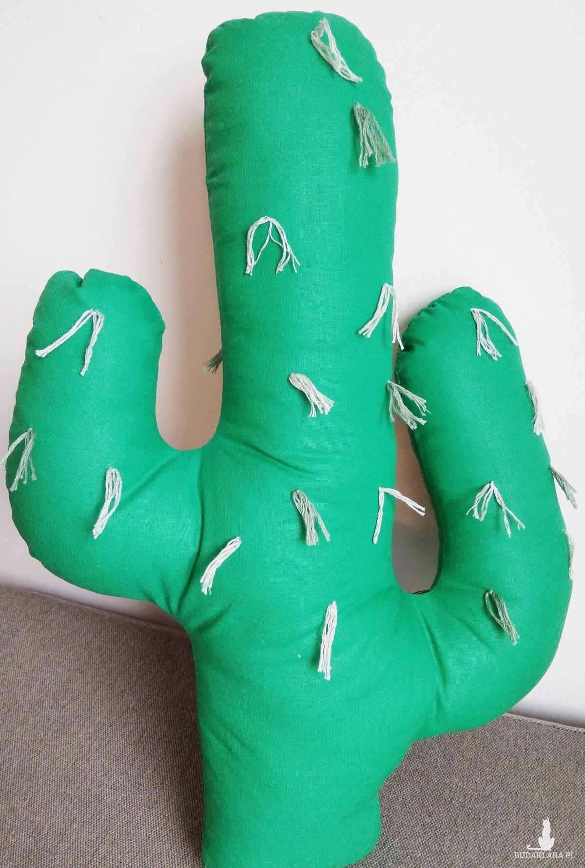 Poduszka kaktus frędzle