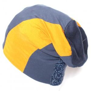 czapka patchworkowa damska ciepła dresowa