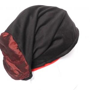 czapka damska dzianinowa ciepła