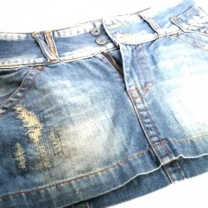 spódnica mini jeansowa biodrówka vintage